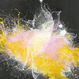 """Peinture à l'acrylique intitulée """"Effervescence végétale"""""""