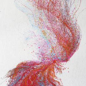 """Peinture à l'acrylique intitulée """"Torsion"""""""