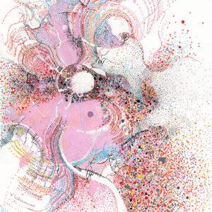 """Peinture à l'acrylique intitulée """"Lacher prise"""""""