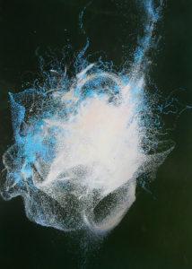 """Peinture à l'acrylique intitulée """"Effervescence abyssale 02"""""""