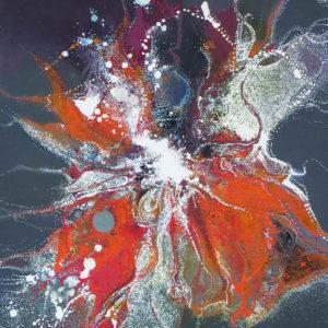 """Peinture à l'acrylique intitulée """"Effervesence 11"""""""