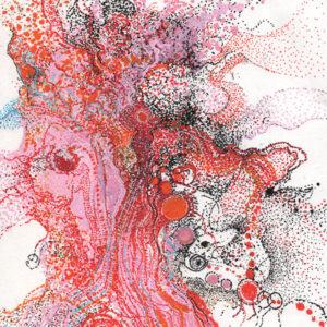 """Peinture à l'acrylique intitulée """"Réflexion"""""""