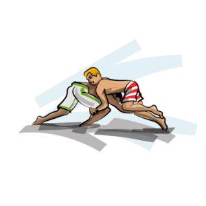 Illustration de Beach wrestling