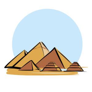 Illustration des Pyramides d'Egpyte