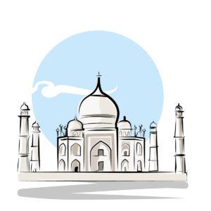 Illustration du Taj Mahal